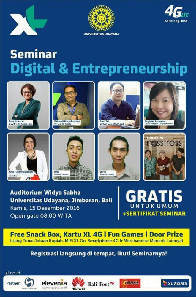 Seminar Digital & Entrepreneurship by XL Axiata