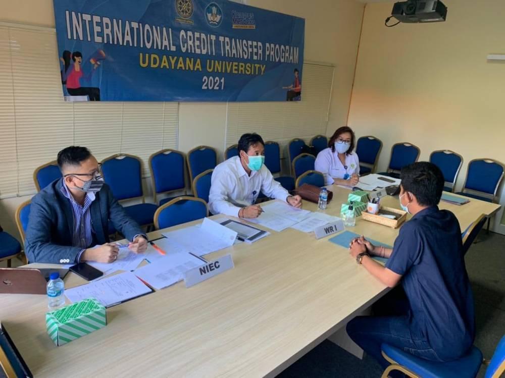 KUI Unud Gelar Interview Program International Credit Transfer dan IISMA 2021