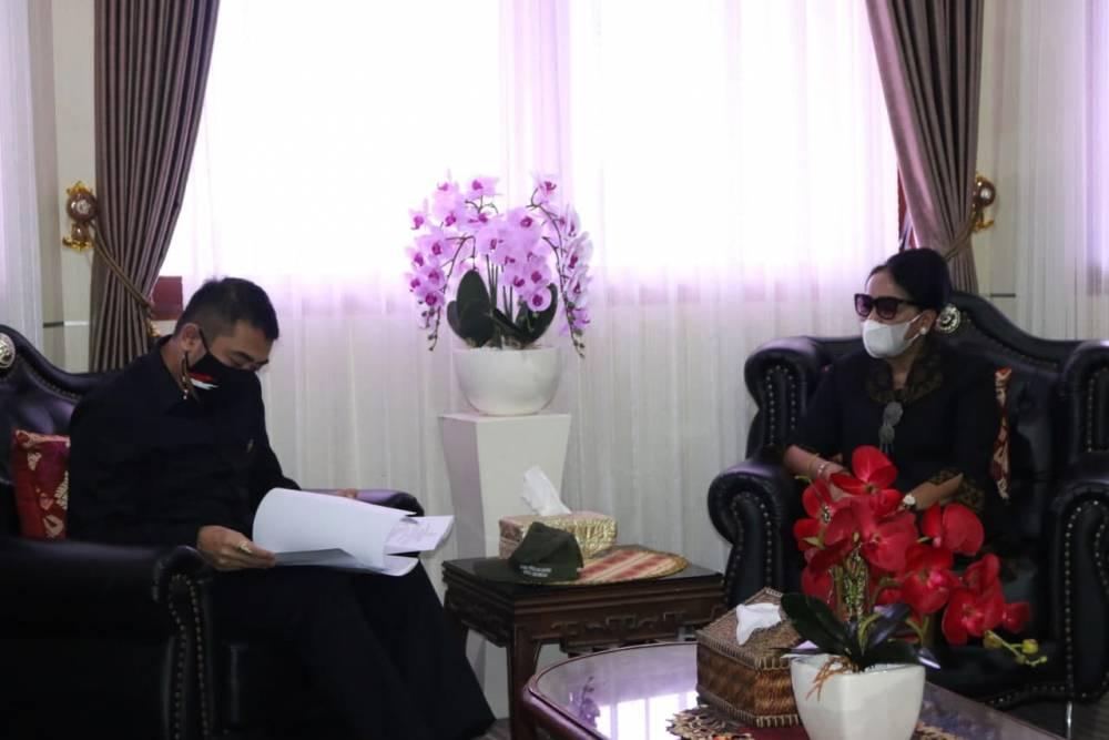 Rektor Unud Terima Audiensi Anggota Komite I DPD RI Arya Wedakarna