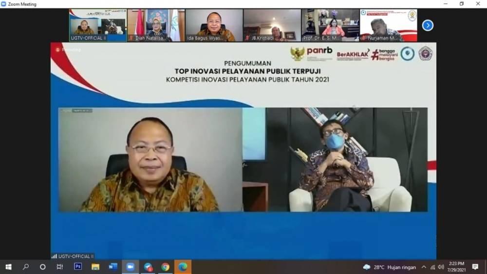 Wakil Rektor IV Unud hadir Sebagai Narasumber dalam Acara Pengumuman TOP Inovasi Pelayanan Publik Terpuji KIPP 2021