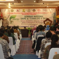 Dissemination of the Research Results and Community Service in National Seminar on Science and Technology II 2015