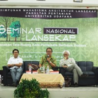 National Seminar of Landscaping 2016 Planning for Urban Spatial Cultural Tourism