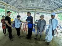 CARING ABOUT TRATAI BANG TEMPLE,  FPMHD OF UNUD DONATES 30 MILLION AS DANA PUNIA