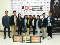 UKM UDAYANA DEBATING SOCIETY (UKM UDS) GETTING THE CHAMPION IN THE ENGLISH DEBATE DEPARTMENT IN MATARAM UNIVERSITY
