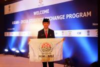 ANDIKA WIRA, AN UDAYANA UNIVERSITY STUDENT WHO REPRESENT INDONESIAN IN ASEAN-INDIA STUDENT EXCHANGE PROGRAM ACTIVITY 2018