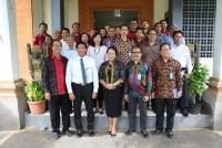 The visit of the Rector and his staff to the Faculty of Marine and Fisheries