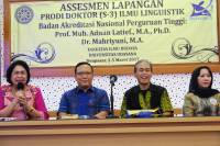 Visitation of Doctorate Degree of Linguistics Studies Faculty of Arts UNUD's  Accreditation