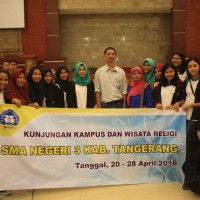 A Visit from Senior High School 3 Tangerang Regency