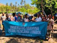 Disaster Care, Unud Provides Assistance to the Lombok Community