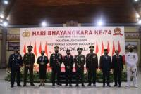 Unud Chancellor Prof. A.A Raka Sudewi Attends 74th Bhayangkara Day Ceremony