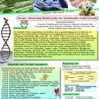 "Seminar Internasional ""The International Conference on Biosciences 2016"""