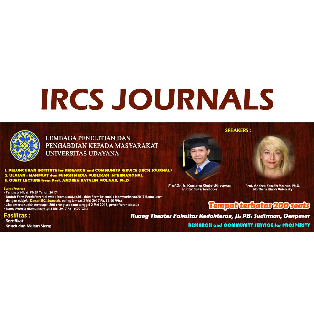 Peluncuran Institute for Research and Community Service (IRCS) Journals