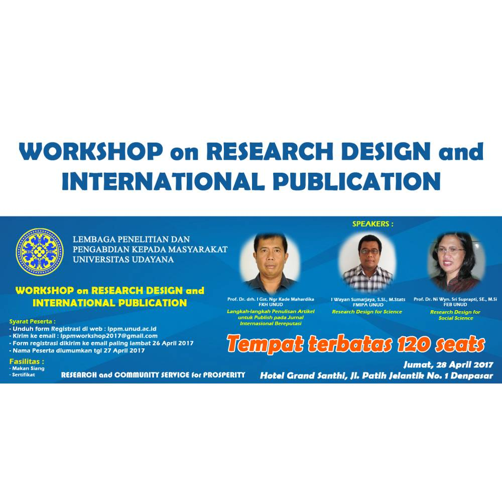 Workshop on Research Design and International Publication
